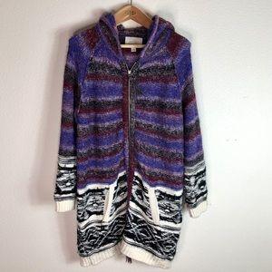 Hinge Nordstrom Chunky Knit Aztec Full Zip Sweater